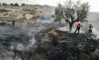 Un incendio quema 3.000 m2 de matorral en la partida del Moralet
