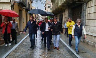 El president de la Diputació d'Alacant visita a Oriola les zones més afectades pel temporal
